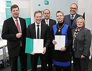 Bild: Dr. Kerstin Bruns und Dr. Martin Wünsch zu Professoren an der FOM Hochschule berufen