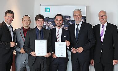 Bild: FOM Absolventen mit ETL-Mittelstandspreis ausgezeichnet